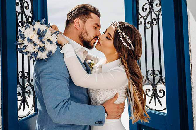Дарина и Андрей. Свадьба в Греции. остров Санторини.