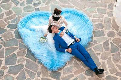 Ида и Закир. Свадьба в Греции. остров Санторини.