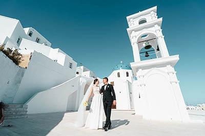 Александра и Дмитрий. Свадьба в Греции. остров Санторини.